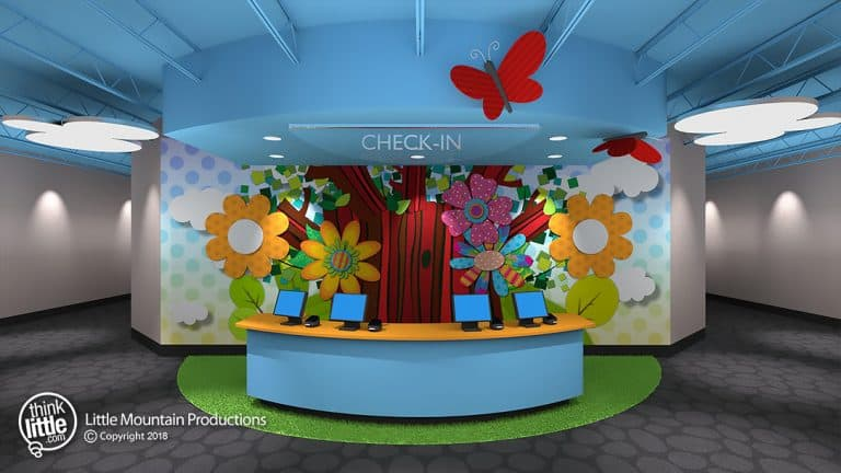 Flower_Tree_Check-in_with_Butterfly_Standoffs